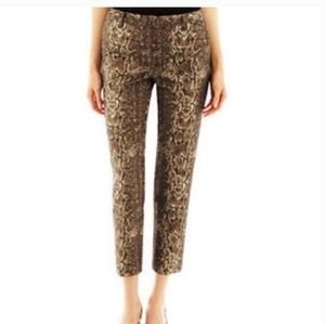 Sexy gold & black Worthington snake print pants